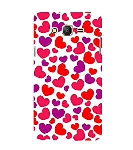 Little Heart 3D Hard Polycarbonate Designer Back Case Cover for Samsung Galaxy On5 Pro :: Samsung Galaxy ON 5 Pro