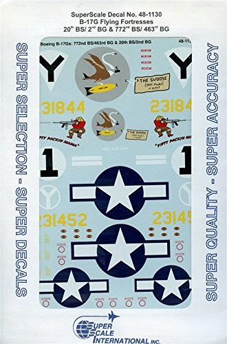 Super Scale Decals 1:48 B-17G Flying Fortresses 20th BS/2nd BG 772nd #48-1130*