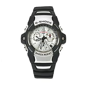 Casio Men's GS1001-7 G-Shock Silver Dial Shock Resistant Chronograph Watch