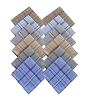 S4S 100% Cotton Multicolor Handkerchiefs (Pack of 12)