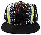 Fashion Aztec Snapback Hats - Native American Pattern - Black Brim