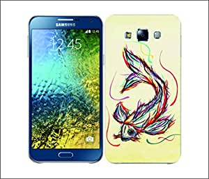 Galaxy Printed 1766 Colourful Animal Scribble Koi fish Hard Cover for Samsung S3