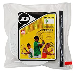 Click here to buy Dunlop Sports Viperdry Overgrip 12 Grip Pack (White) by Dunlop Sports.