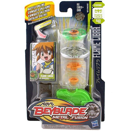 Amazon.com: Beyblade Metal Fusion Battle Tops - Flame Libra (T125ES