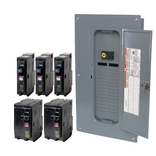 schneider electric qo32m100vp qo 100 amp 32 space 32 circuit i. Black Bedroom Furniture Sets. Home Design Ideas