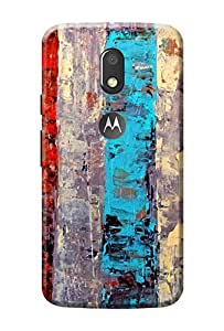 Moto E3 Power Back Cover Designer KanvasCases Premium 3D Printed Lightweight Hard Case