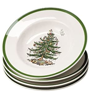 Amazon.com | Spode Christmas Tree Set of 4 Soup Bowls 9 ...