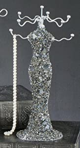 "Jewelry Organizers Glitz Beaded Long Dress Jewelry and Accessory Display Organizer 12.25"" High, Vintage Jewelry Organizer at Sears.com"