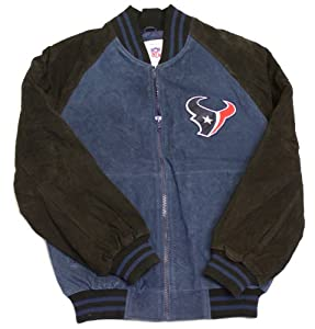 NFL Officially Licensed Houston Texans Embroidered Suede Winter Jacket Coat by NFL