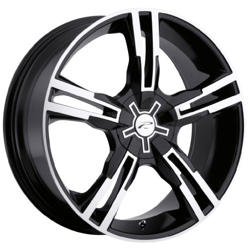 Platinum Saber 17 Black Wheel / Rim 5x120 & 5x4.5 with a 42mm Offset and a 74 Hub Bore. Partnumber 292-7707B (2009 Mustang Rims compare prices)