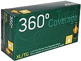 360° Total Coverage Disposable Vinyl Gloves - Size XL - 100 Pieces