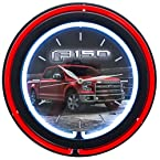 Ford F-150 Double Neon Wall Clock