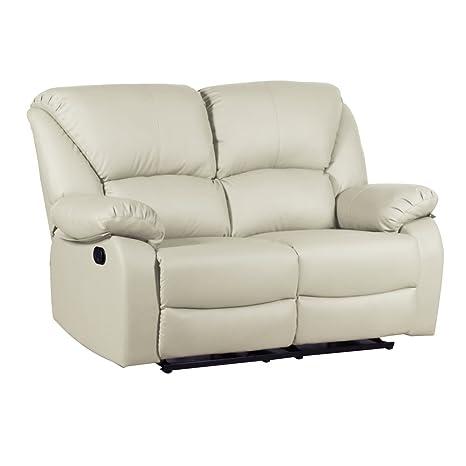 Divano 100% ecopelle poltrona 2 posti reclinabile arredo casa design ANDY 45345