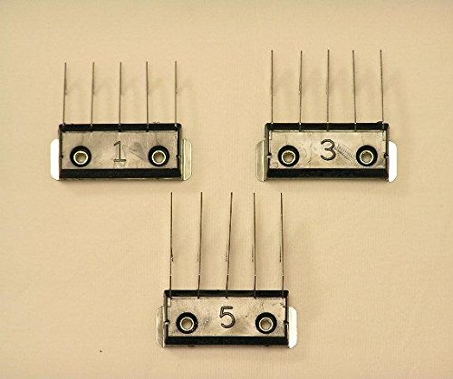 Wahl 3 Piece Stainless Steel Guide Combs For A5 Type Blades