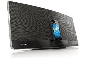 Philips DCM3260 Mini Stereoanlage mit DualDock (Lightning, 30-polig, 40 W, USB Direct), schwarz