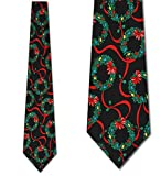 Christmas Wreath Neck Ties Mens Holiday Necktie