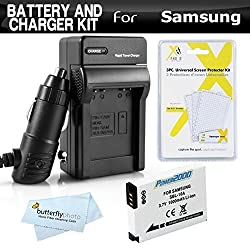 Battery And Charger Kit For Samsung WB750 WB150F EX2 EX2F WB350F WB1100F WB2100 WB800F WB250F Digital Camera Includes Extended Replacement (1000Mah) SLB-10A Battery + Ac/Dc Rapid Travel Charger + MicroFiber Cleaning Cloth + More