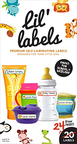 Find Bargain Lil' Labels Bottle Labels, Premium Self-Laminating Baby Bottle Labels - Made for Daycar...
