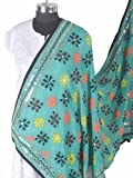 Shopatplaces Phulkari Dupatta In Sky Blue - CPPDC28AP14
