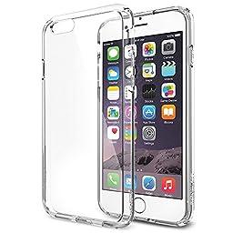 iPhone 6 Case, Spigen® [Ultra Hybrid Series] AIR CUSHION [Crystal Clear] Air Cushion Technology Bumper Case with Clear Back Panel for iPhone 6 (2014) - Crystal Clear (SGP10954)