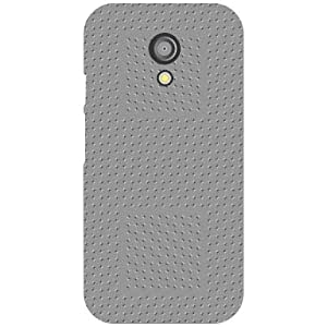 Printland Grey Colored Phone Cover For Motorola Moto G (2nd Gen)