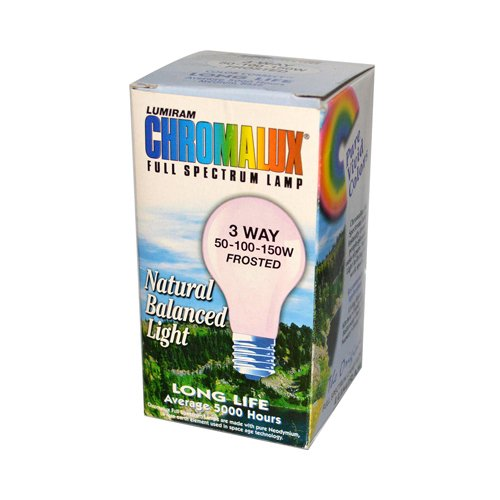 Wholesale Chromalux Lumiram Full Spectrum 3 Way 50/100/150 watts - Frosted - 1 Light Bulb, [Lighting, Light Bulbs]