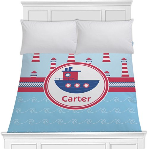 Light House & Waves Duvet Cover (Personalized) - Full/Queen front-996546