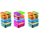 Rubbermaid Lunch Blox Sandwich Kits Set of 3, Two Blue/Green/Orange kits and one Pink/Purple/Clear Kit