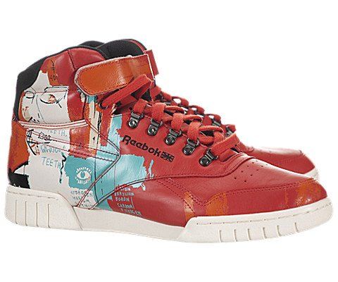 Reebok Ex-O-Fit Plus Hi Basquiat – Red / Orange / White / Teal, 10 D US