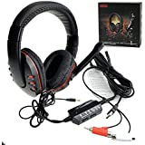 S Qdeal [Over Ear] Wired Gaming Headset Headphone Headband With Mic For Ps4/Ps3/Pc/Xbox 360, Windows 2000/Xp/Windows...