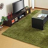 ラグマット カーペット 絨毯 じゅうたん シャギーラグ ラグマット 洗濯可能 〔200×250cm〕 グリーン