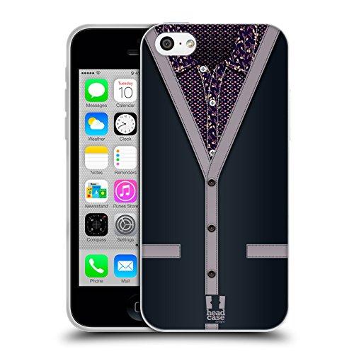 Head Case Designs Grigio Carbone Collezione Cardigan Cover Morbida In Gel Per Apple iPhone 5c