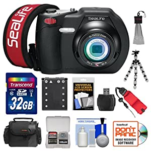 SeaLife DC1400 14MP HD Underwater Digital Camera with 32GB Card + Case + Battery & Charger + Tripod + Accessory Kit