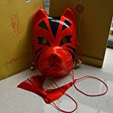 Japanese Style Hand Painted Fox Pvc Mask 6 (Color: Like the Picture, Tamaño: adult size)