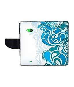 KolorEdge Printed Flip Cover For Microsoft Lumia 535 Multicolor -(50KeMLogo12430Lumia535)