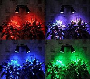 [400 Lumen Super Bright] HKYH 400 Lumen 2 Lamp Base 8 LED Solar Spotlight,360°angle Adjustable, Waterproof Solar Landscape Light, Solar Light Outdoor Garden for Wall, Patio, Deck, Pool Area, Etc.