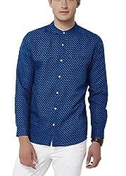 Chumbak Men's Casual Shirt (8904218042680_CMMCS006 M_Medium_Blue)