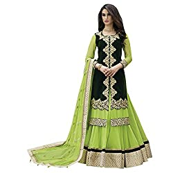 Aagaman Fashions Net Lehenga Cholis (YTSN88005_Green)