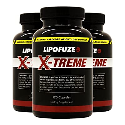 Lipofuze Xtreme 3 Pack - Top Weight Loss Pills for Hardcore Fat Loss - All Natural Diet Supplement - Best Fat Burner for Ultimate Weight Loss