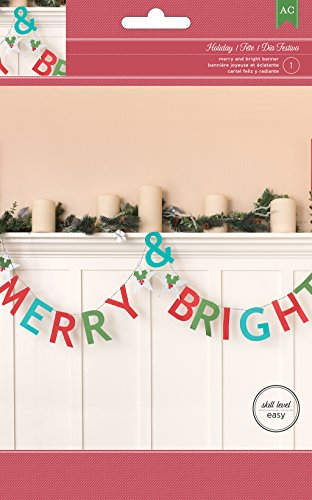 American Crafts Merry & Bright Banner Kit