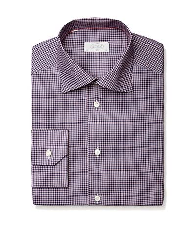 Eton Men's Slim Fit Checked Spread Collar Dress Shirt