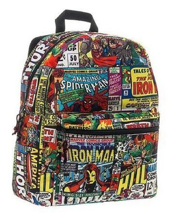 Marvel Comic Print Backpack