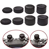 VizGiz 8PCS Enhanced Height Rubber Silicone Cap Thumbstick Thumb Stick Covers Case Skin Joystick Grip Grips For Sony PlayStation 4 PS PS4 Accessories Games Wireless Controller Pro ( Black 4 Pair ) (Color: Black)