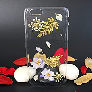 Beautiful Real Flowers Clear Slim Unique Design Phone Case for iPhone 6(5)