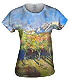 """Claude Monet - """"The Lindens Of Poissy"""" (1882) -Tagless- Womens Shirt-Large"""