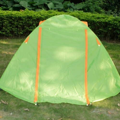 3-Person Aluminum Pole Folding Tent Green/Orange