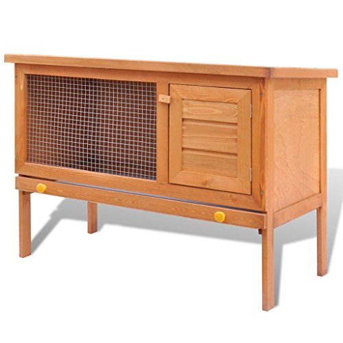vidaXL-Outdoor-Rabbit-Hutch-Small-Animal-House-Pet-Cage-1-Layer-Wood