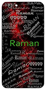 Raman (Pleasing, Beloved, Kamdev) Name & Sign Printed All over customize & Personalized!! Protective back cover for your Smart Phone : Apple iPhone 6