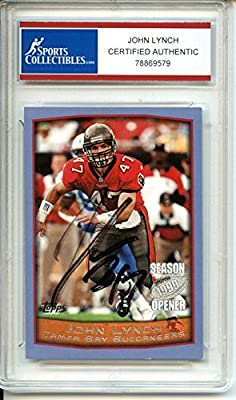 John Lynch Autographed Tampa Bay Buccaneers Trading Card - Certified Authentic