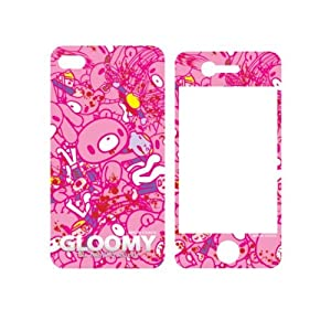 Gloomy Bear iPhone 4 Cover Case with Printed Screen Protector (Gloomy Mass)